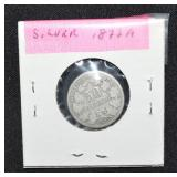 1877 German Silver 50 Pefennig Coin