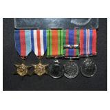 5 pcs Canadian Military Miniatures Medals