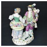 """Antique Meissen Figurine - Dancing Couple 6"""""""