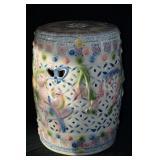 "Vintage Ceramic Oriental Stool 18""h x 12""d"