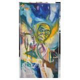 Original Oil On Canvas Brite Boock (Hella)