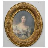 Gold Gilt Oval Framed The Beautiful Miss Croker