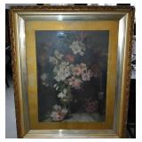 Large Framed  Watercolour Still Life Painting