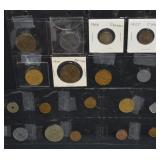 18 pcs Assorted Coins & Tokens