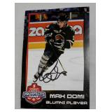 Signed Max Domi Promo Photo Prospects Game