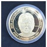 John Lennon Commerative Medallion