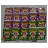19 packs Score Baseball Cards 1991