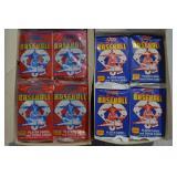 54 packs Score Baseball Cards 1988/89