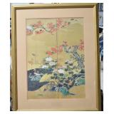 """Framed Asian Art Panels - 34.5""""h x 28""""w"""