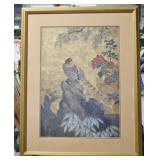 "Framed Asian Art Print - 34.5""h x 28""w"