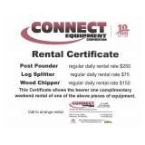 1 Day Rental Post Pounder / Log Splitter / Chipper