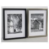 2 Black & White Framed Photos