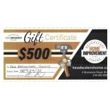 $500 Gift Card at Headwaters Home Improvement