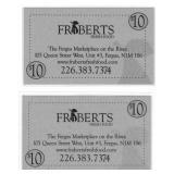 $20 Gift Cards from Fraeberts Fresh Food, Fergus