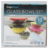 10 pcs Glass Bowl Set with Lids