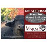 Gift Certificate - Majestic Water Buffalo Meat Box