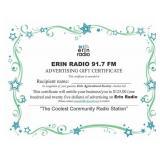 $125 Gift Certificate 91.7 Erin Radio Advertising
