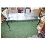 "Metal & glass coffee table-36x18x16"" tall"