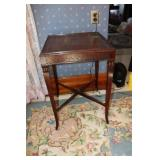 """Wood carved side table 19"""" square x 28"""" tall"""