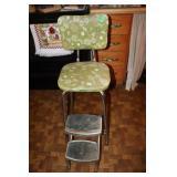 Vintage fold up step stool