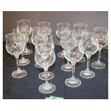 Lot of wine glasses