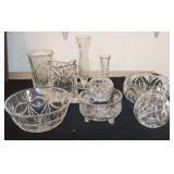 Crystal & glass bowls/vases
