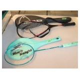 2 Rackets with covers