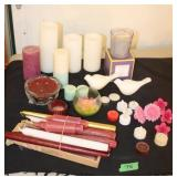 Large lot of assorted candles