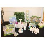 Easter lot-Easter eggs/Easter Village etc- see
