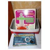Bird bath de-icer & Hummingbird feeder