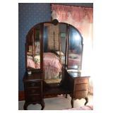 "Antique wood dressing vanity-51x20x70"" tall"