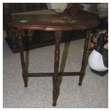 Wood side table 22x11x24 inches tall