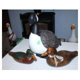 Duck lot-1 Ceramic and 2 wooden