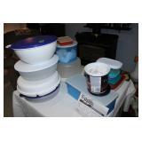 Large lot of Tupperware/plastic storage