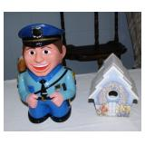 2 Cookie jars-Policeman one talks