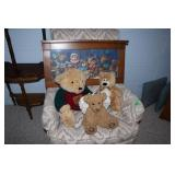 Bear lot-picture/stuffed bears and resin bear