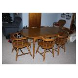Wood Dining Room table -total 71 inches-each leaf