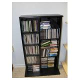 Storage cabinet full of CDs/DVDs-19x7x33 inches