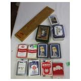 playing cards and cribbage game