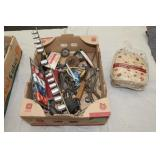 Box lot-see pictures-ice scraper mitt/clamp set/