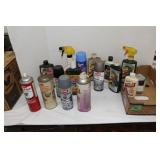 Box lot-see pictures-spray paint/cleaners etc