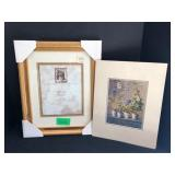 NEW, Sealed 11x14 Gold Frame and Print