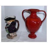 Pitcher/red urn