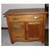 Small wood dresser/vanity/coffee bar