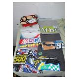 misc Nascar T-shirts - L and Snap on towel
