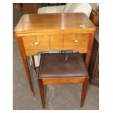 Singer sewing machine in cabinet-tested with
