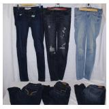 6 Pair of jeans-Hollister & American Eagle-