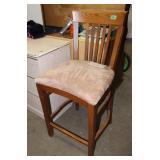 Wood & upholstered bar stool