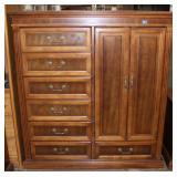 7 Drawer dresser with door opening 4 shelves-