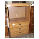 Cabinet with 3 drawers36 x 20 x 57.5 inches tall